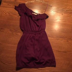 Purple Max Studio One Shoulder Dress Size Small